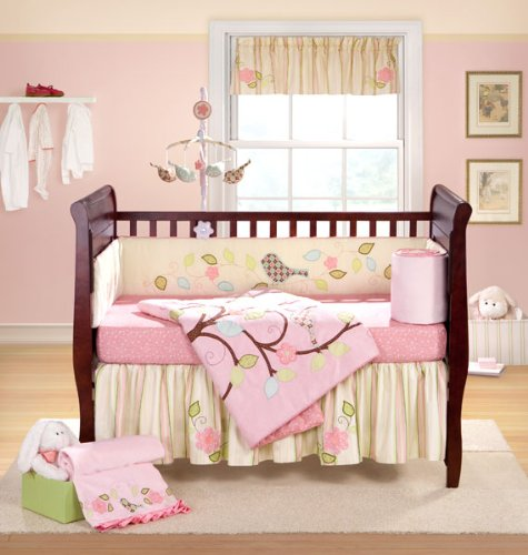 Lovebird 4-Piece Crib Bedding Set by Bananafish