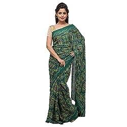 Aradhya Rajasthani Bandhani/Bandhej Moss Crepe Saree
