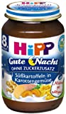 Hipp Süßkartoffeln in Karottengemüse, 6er Pack (6 x 190 g) - Bio