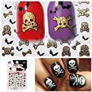 MyGal Helloween Holiday Theme 3D Nail Art Accessory Nail Decals Stickers 4PCS