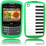 Piano Silicone Case Cover Skin For Blackberry 8520 9300 Curve / Green