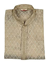 TYRA Men's Kurta Fabric (Brown)