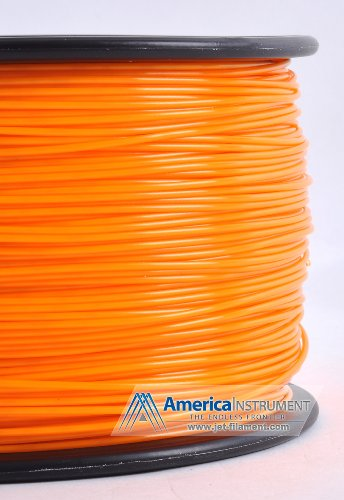 Jet - PLA (1.75mm, Orange color, 1.0kg =2.204lbs) Filament on Spool for 3D Printer MakerBot RepRap MakerGear Ultimaker & Up!