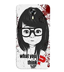 Fuson Thinking Girl Back Case Cover for MICROMAX CANVAS XPRESS 2 E313 - D4074