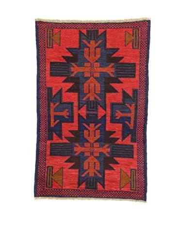 Eden tapijt Baluchistan rood / blauw 83 x 128 cm
