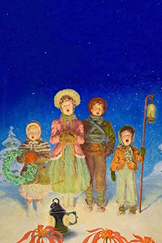 Buyenlarge 'Christmas Carolers' Paper Poster, 20 by 30-Inch