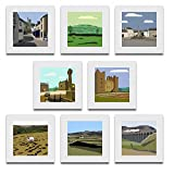 Pack of 8 blank, fine art greeting cards (Hawes, Penhill, Middleham, Leyburn, Bolton Castle, Swaledale, Wensleydale, Ribblehead Viaduct)