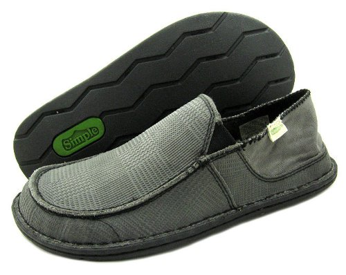 Simple Men's Gumshoe Slip-On,Charcoal,9 M US