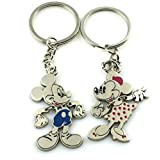 Angelia Disney Lover Mickey Lover His Her Keychain Keyring Couples - Arrow &