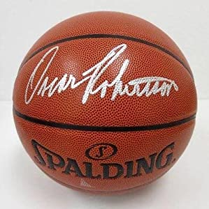 Oscar Robinson Milwaukee Bucks Signed Spalding NBA Basketball PSA DNA - Autographed... by Sports Memorabilia