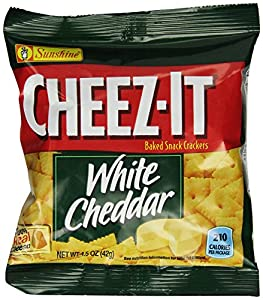 CHEEZ-IT Baked Snack Crackers, White Cheddar Crackers, 1.5-Ounce Units (Pack of 60)