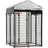 Lucky Dog 6'Hx4'Wx4'L Uptown Welded Wire Kennel