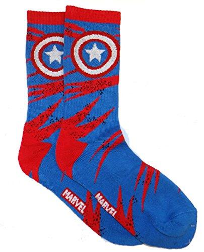 Captain America Logo Men's Crew Socks