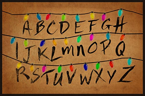 Christmas Lights Alphabet From Stranger Things TV Show Poster 12x18