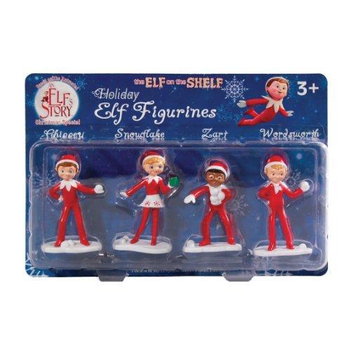The Elf on the Shelf Elf on the Shelf: An Elf's Story Elf Figurines, Set of 4 at Sears.com