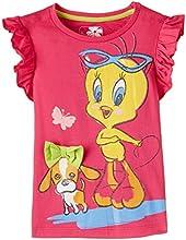 Tweety Girls' T-Shirt (TW0DGT343_Fuschia_5/6)