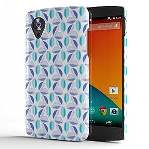 Koveru Designer Printed Protective Snap-On Durable Plastic Back Shell Case Cover for Google Nexus 5 - Violet pattern