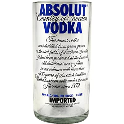 Absolut Vodka Glass Recylcled Bottle Tumbler - 30 oz