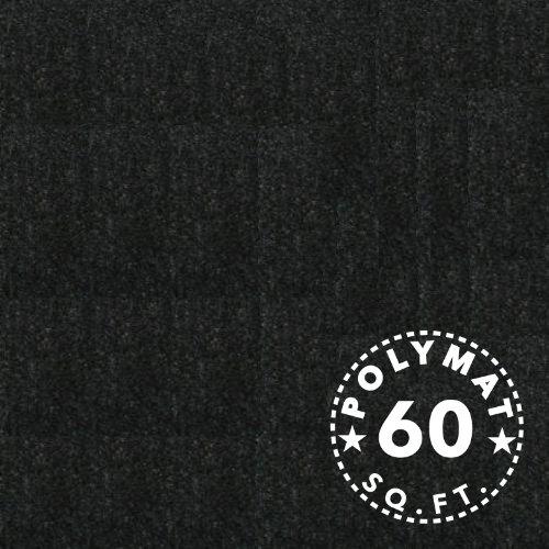 Polymat Carpet 15Ft * 4Ft Wide Black Car Speaker Box Dj Speaker Enclosure Carpet Trunkliner Store Display Fabric Trade Show Back Drop Velcro Receptive