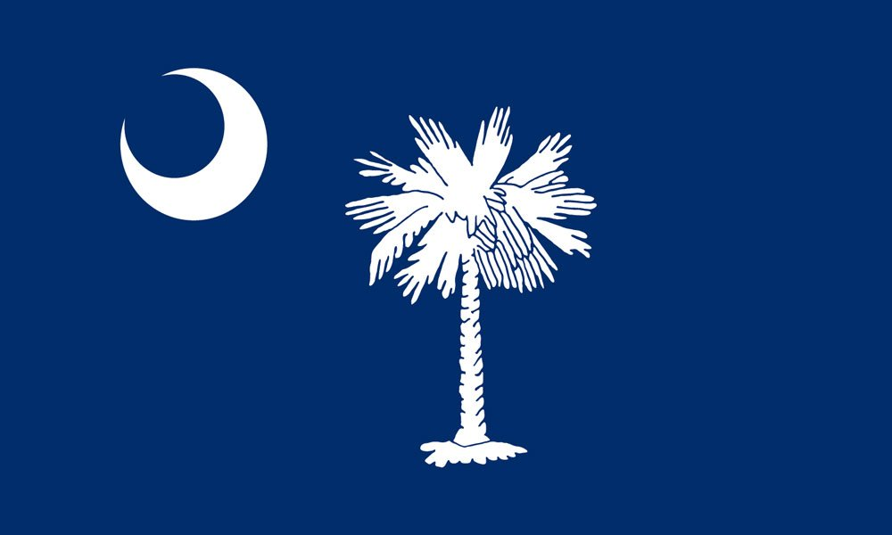 South Carolina State Flag Coloring Pages Usa For Kids Drop Coloring Page