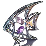CRYSTOCRAFT ANGELFISH ORNAMENT WITH SWAROVSKI CRYSTALS