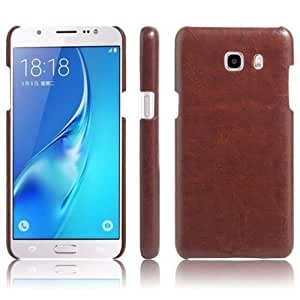 Americhome TM Luxury Cowboy Leather Case UltraThin Back Cover For Samsung galaxy A 5 (2016 ADITION) (Brown)