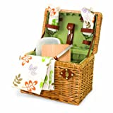 Image of Picnic Time Napa Basket with Wine and Cheese Service for Two, Botanica
