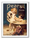 Pears Soap Print Silver Framed - 41 x 31 cms (Approx 16 x 12 Inches)