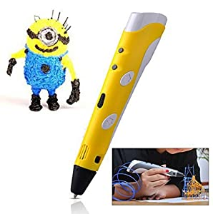 Soyan 3D Arts & Crafts Drawing 3D Printing Doodle Printer Pen with FREE 30G ABS Filament(Yellow) from Soyan Technology