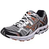 Mizuno Men's Wave Alchemy 10 Running Shoe,Silver/Burnt Orange/Black,10 EE US