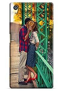 Omnam Two Loves Expressing Love Designer Back Cover Case For Sony Xperia Z5 Premium