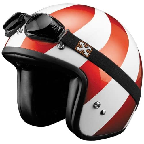 SparX Old School Bobber Open Face Pearl Motorcycle Helmet Peppermint w