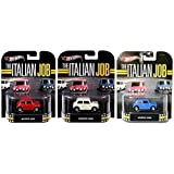 Morris Mini Cooper Italian Job Hot Wheels Set - Red, White & Blue 3 Car Retro Entertainment Die Cast 1:64 three pack (Color: red, white, blue, Tamaño: 1:64)