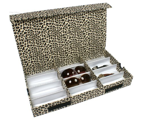 White Leopard Pattern Eyeglasses Case Display