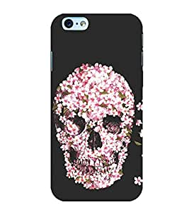 Flower Skull 3D Hard Polycarbonate Designer Back Case Cover for Apple iPhone 6