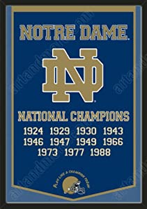 Dynasty Banner Of Notre Dame Fighting Irish-Framed Awesome & Beautiful-Must For A... by Art and More, Davenport, IA
