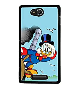 printtech Uncle Scrooge Disney Back Case Cover for Sony Xperia C , Sony Xperia C HSPA+ C2305
