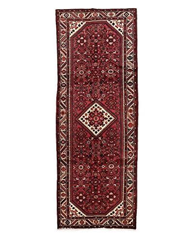 Darya Rugs Authentic Persian Rug, Red, 3' 8 10' Runner