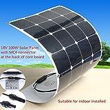 Mohoo 100W 18V Monokristalline Solarpanel Energie Semi Flexible Wasserdicht Ladegerät