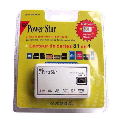 Power Star LECT-SIM-81IN1 Lecteur de cartes mémoires