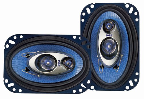 "Pyle Pl463Bl 4X6"" 240 Watts 3 Way Coaxial Car Speakers Stereo Blue"
