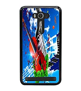 Fuson Premium 2D Back Case Cover Stylish Violin With Multi Background Degined For Asus Zenfone 2 Laser ZE500KL::Asus Zenfone 2 Laser ZE500KL (5 Inches)