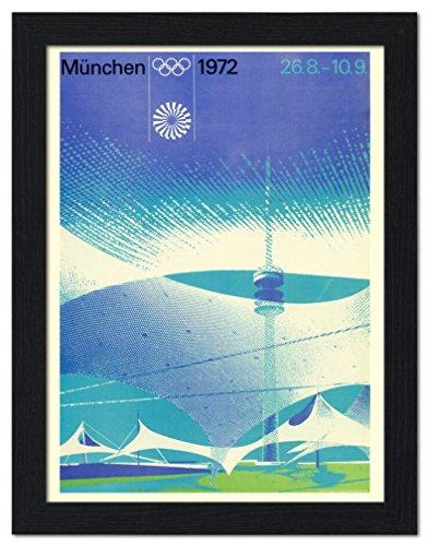 olympic-games-munich-1972-poster-framed-print-32x42cm-black