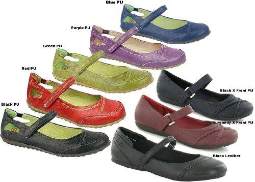 Blue Bar Flat Shoes A218 Size 8