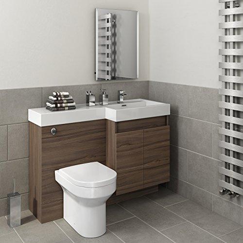 1200 mm Modern Walnut Bathroom Vanity Unit Basin Sink ...