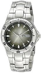 Armitron Men's 20/1725GMG Day/Date Function Degrade Dial Silver-Tone Bracelet Watch