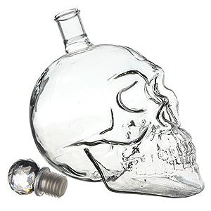 bouteille crane de crystal vodka verre skullhead tete mort. Black Bedroom Furniture Sets. Home Design Ideas