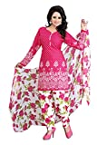 #10: Today Best Offer Women's Clothing Designer Party Wear Lovely Pink Color Crepe Fabric Unstiched Free Size Salwar Kameez Dress Material by Platinum Creation