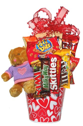 Lots of Love Valentine Gift Basket  Teddy Bear