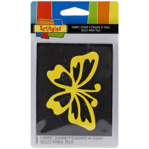 Scribbles Fabric Stamp-Small Butterfly